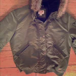 Army green puffer jacket from target